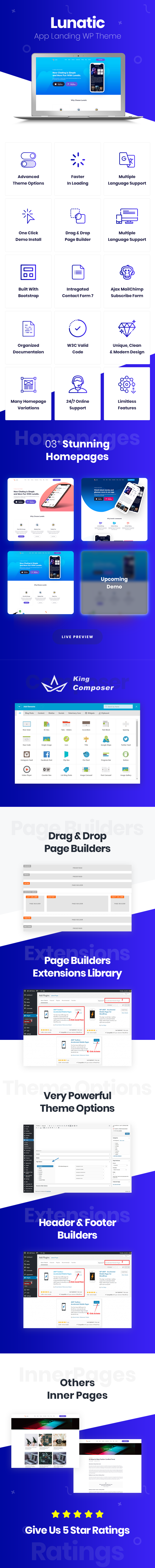 app, app landing, app landing page, app landing template, app landing wordpress theme, app store, creative app landing page, landing page, marketing, mobile app landing page, saas, service, software, wordpress, wordpress theme